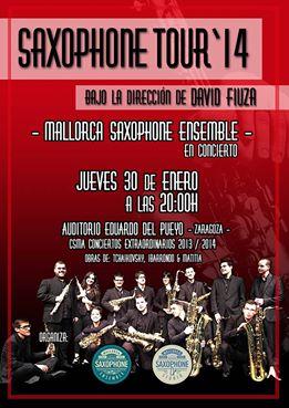 saxophone tour 2014 zaragoza